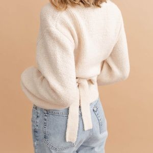 soft & lovely wrap top sweater!